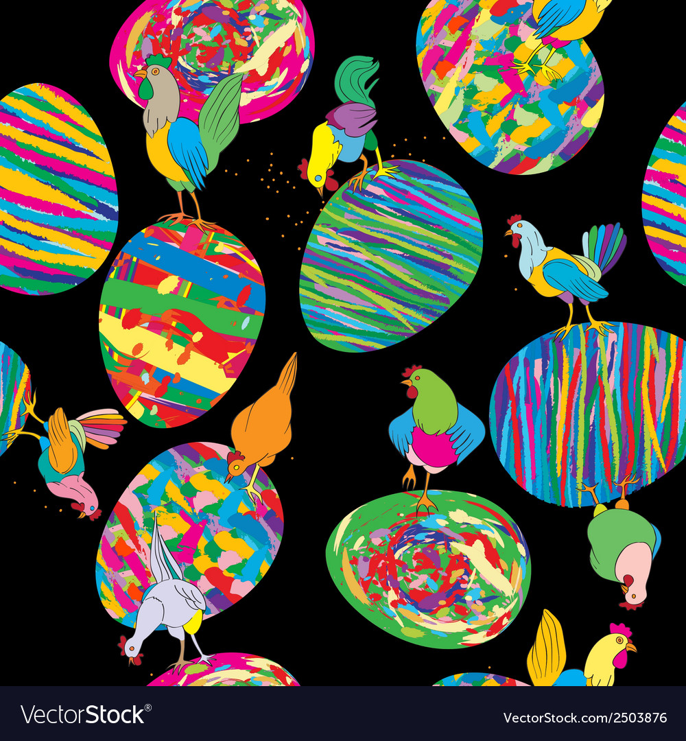 Eggs and hen pattern vector | Price: 1 Credit (USD $1)