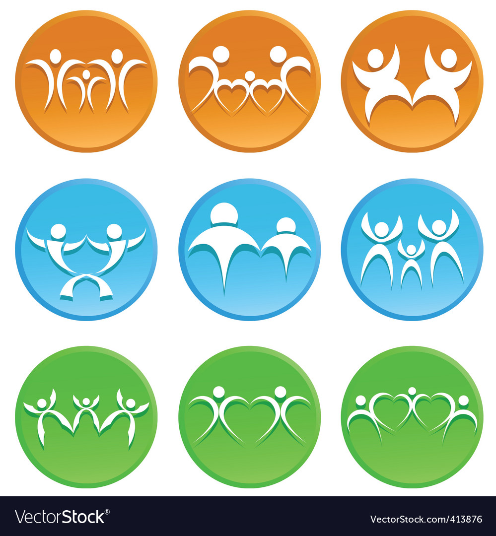 Family icon vector | Price: 1 Credit (USD $1)