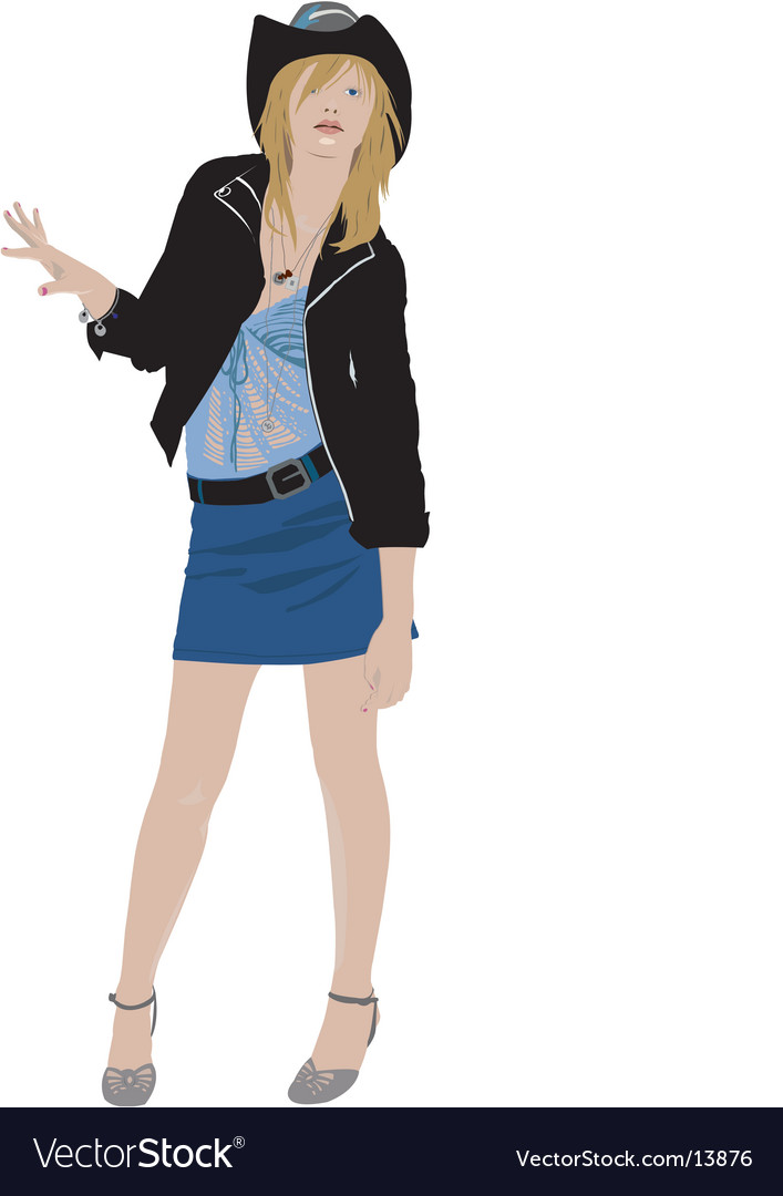 Fashion cowgirl vector