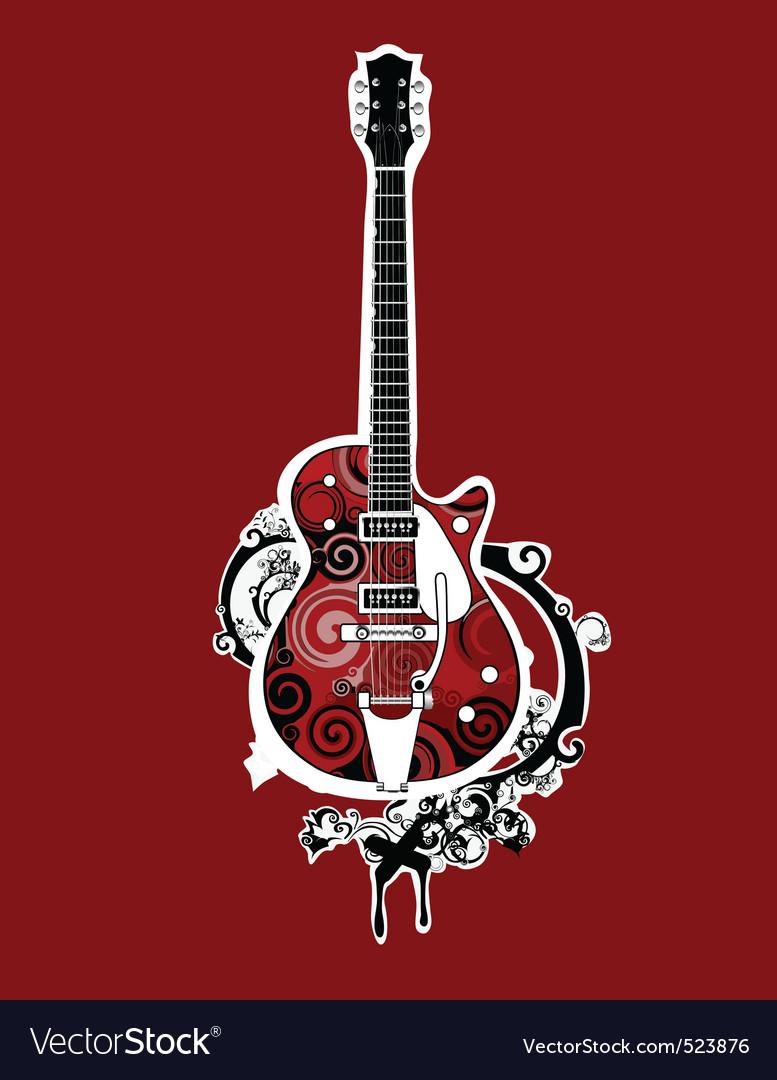 Funky guitar vector | Price: 1 Credit (USD $1)