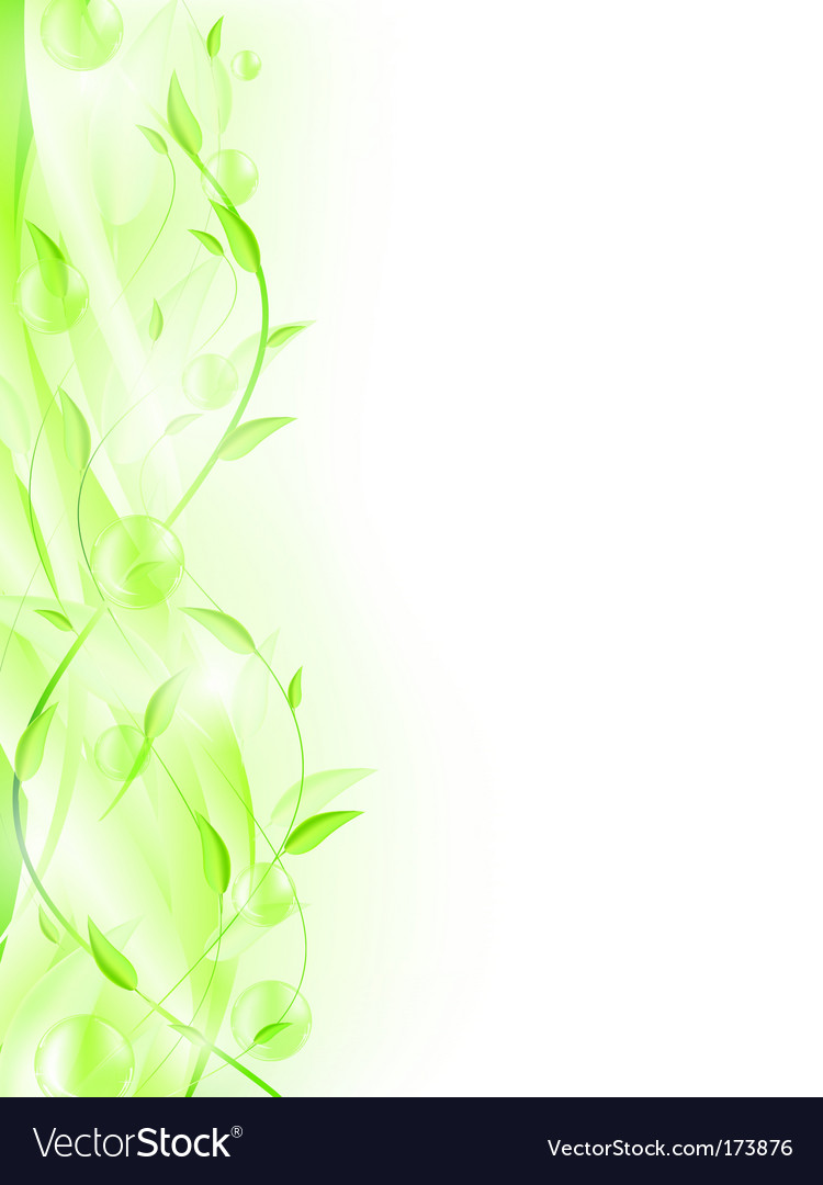 Green leaf frame vector | Price: 1 Credit (USD $1)