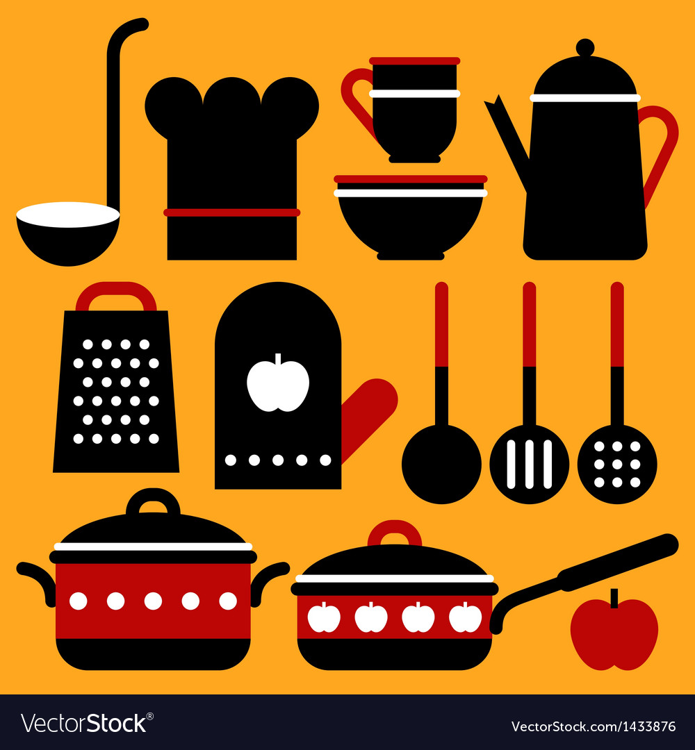 Kitchen equipment vector | Price: 1 Credit (USD $1)