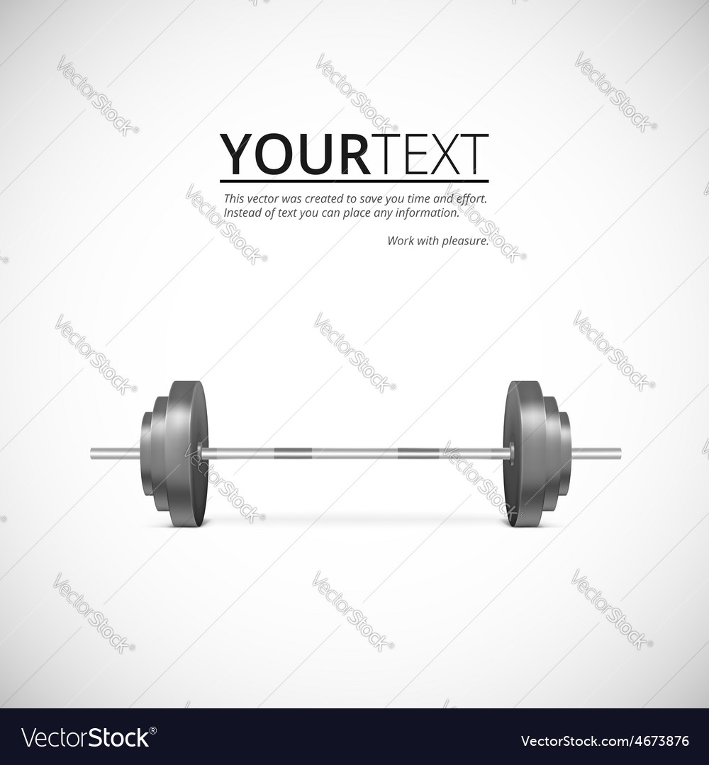 Metal barbell vector | Price: 1 Credit (USD $1)