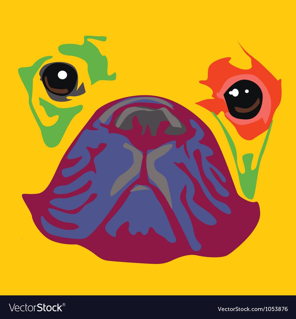 Nice color bulldog art print vector | Price: 1 Credit (USD $1)