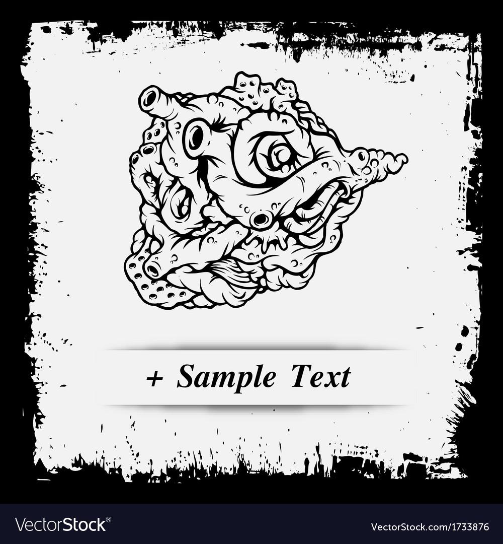 Paper art human emphysema vector | Price: 1 Credit (USD $1)