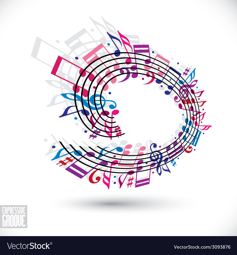 Pink and violet music background with clef and vector | Price: 1 Credit (USD $1)