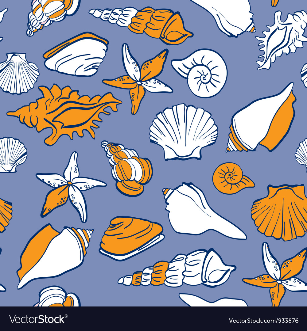 Sea seamless pattern vector | Price: 1 Credit (USD $1)