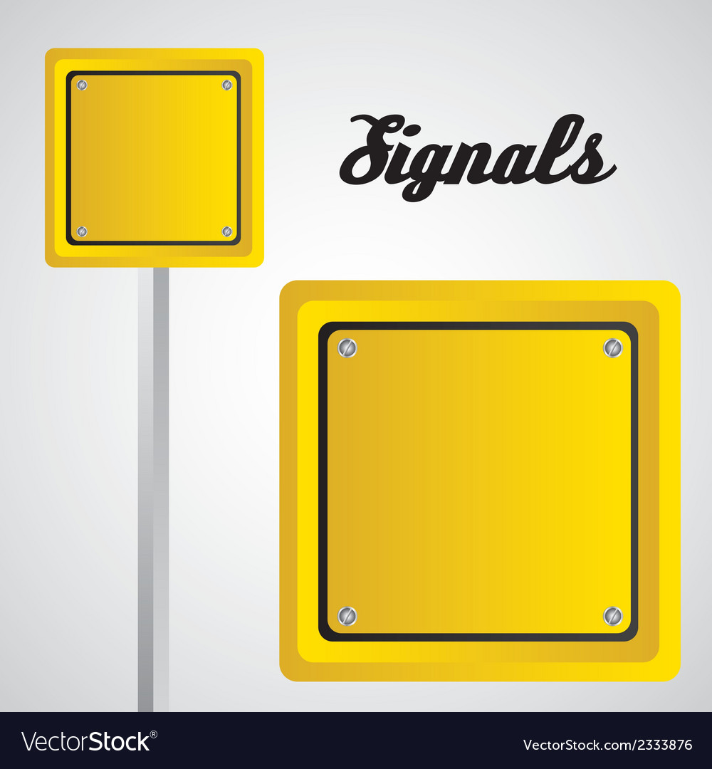 Square yellow sign over gray background vector | Price: 1 Credit (USD $1)