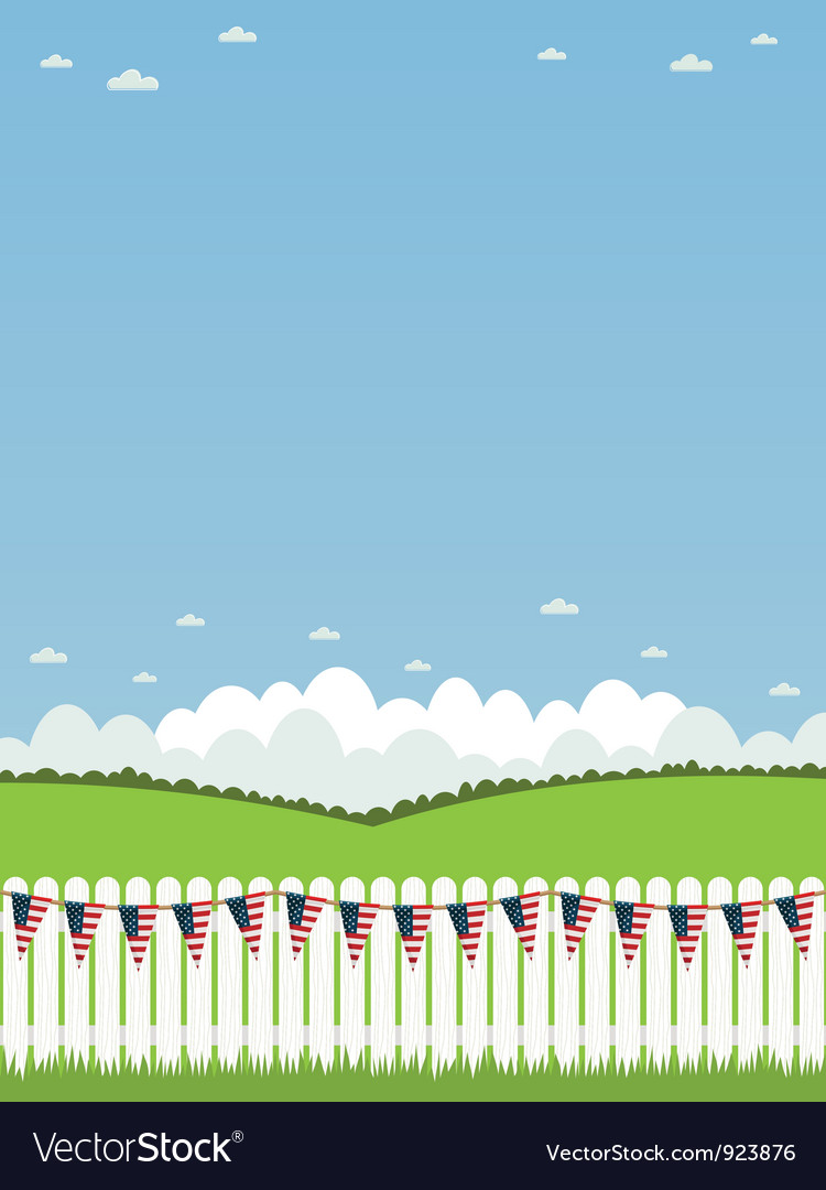 Usa picket fence vector | Price: 1 Credit (USD $1)