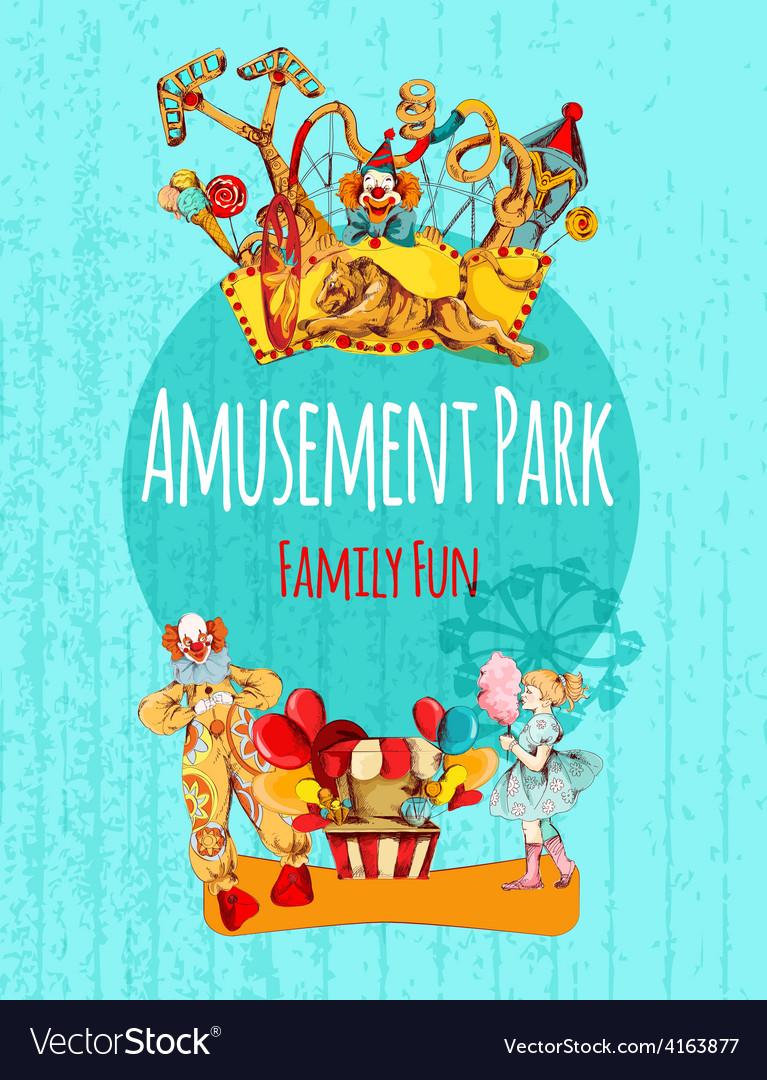 Amusement park poster vector | Price: 3 Credit (USD $3)