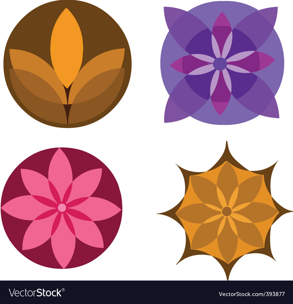 Floral elements background vector   Price: 1 Credit (USD $1)