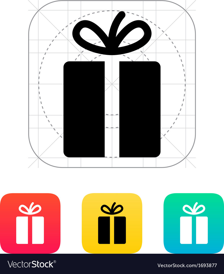 Gift icons on white background vector | Price: 1 Credit (USD $1)