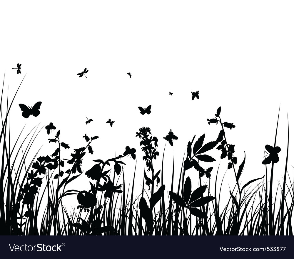 Grass silhouettes vector | Price: 1 Credit (USD $1)