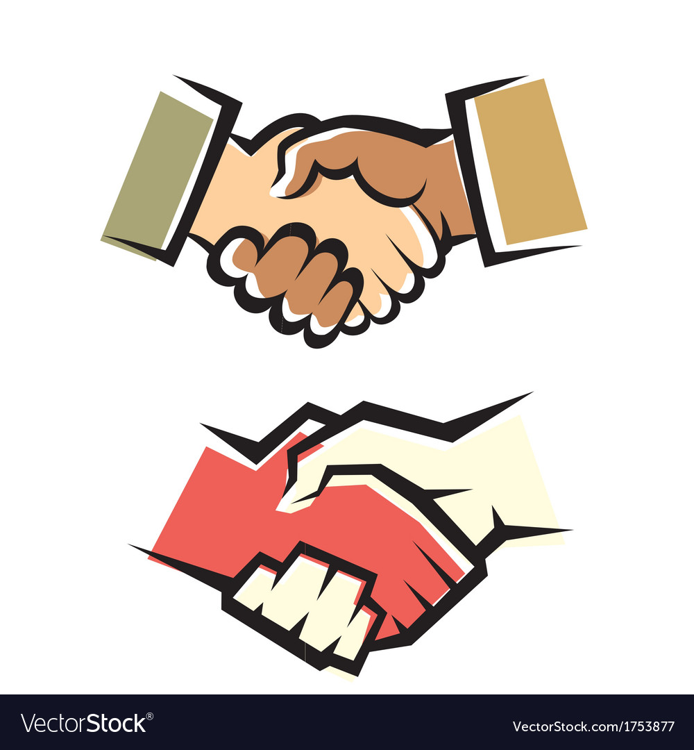 Handshake symbol set vector | Price: 1 Credit (USD $1)