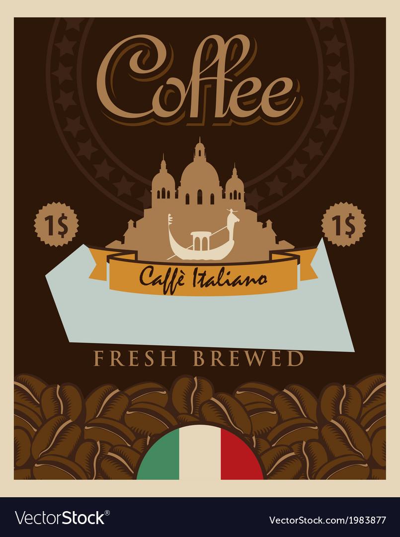 Italian coffee vector | Price: 1 Credit (USD $1)