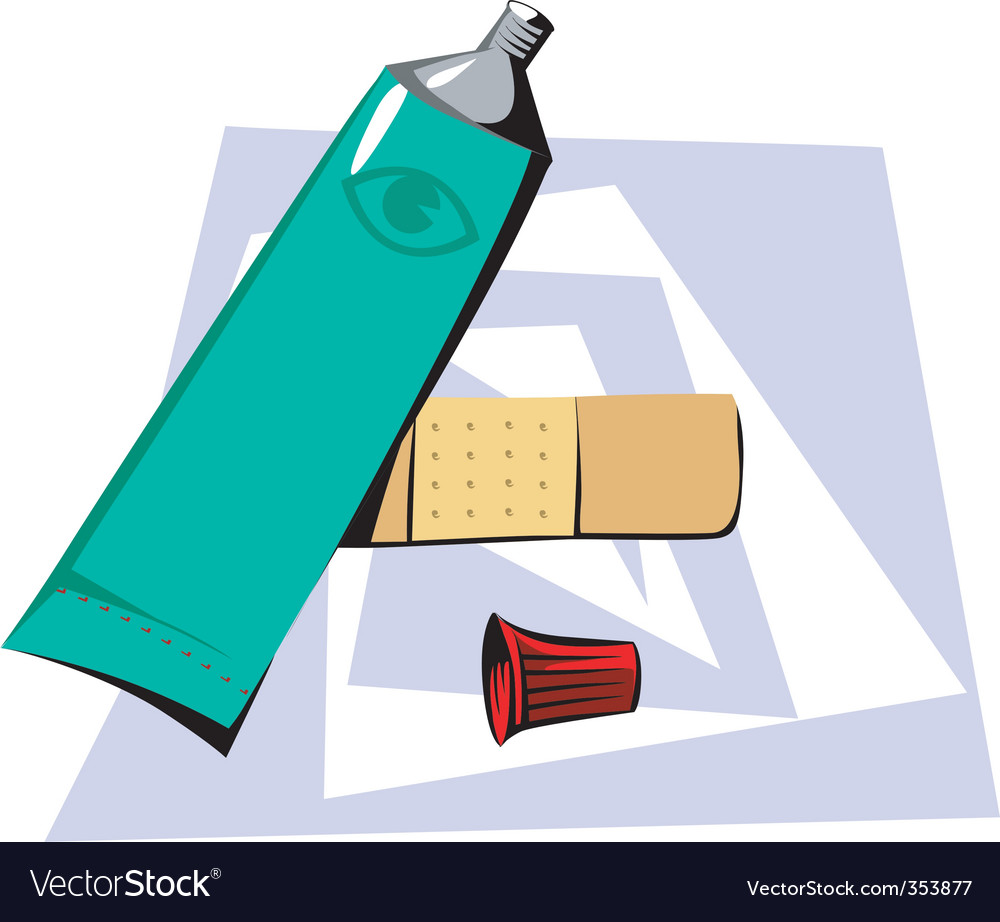 Medical cream and bandage vector | Price: 1 Credit (USD $1)