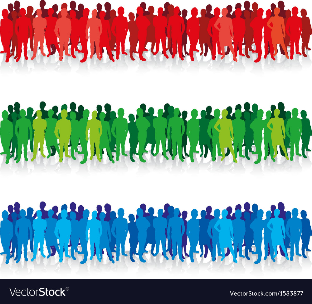 People in a row vector | Price: 1 Credit (USD $1)