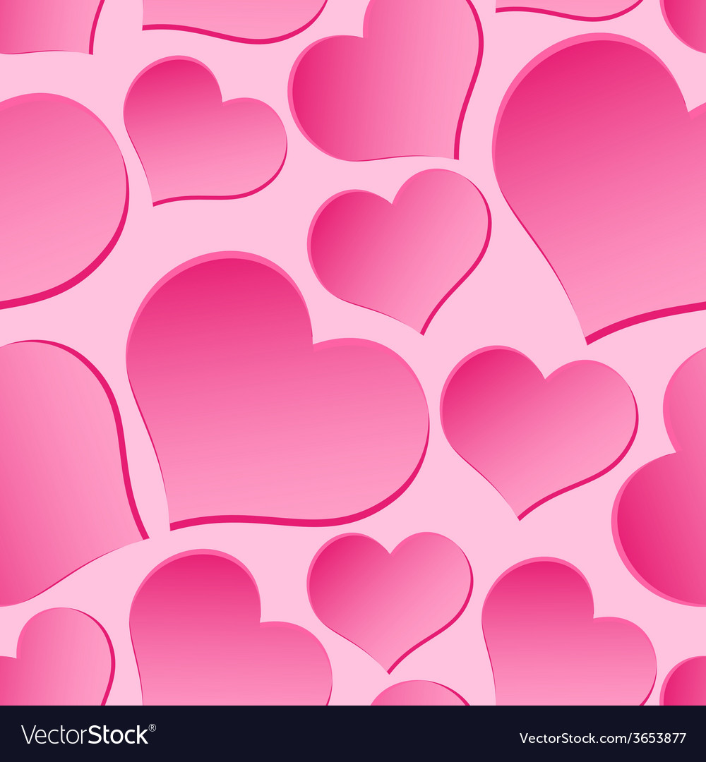 Pink valentine hearths from paper seamless pattern vector | Price: 1 Credit (USD $1)