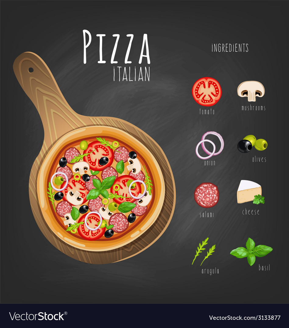 Pizza italiano vector | Price: 1 Credit (USD $1)