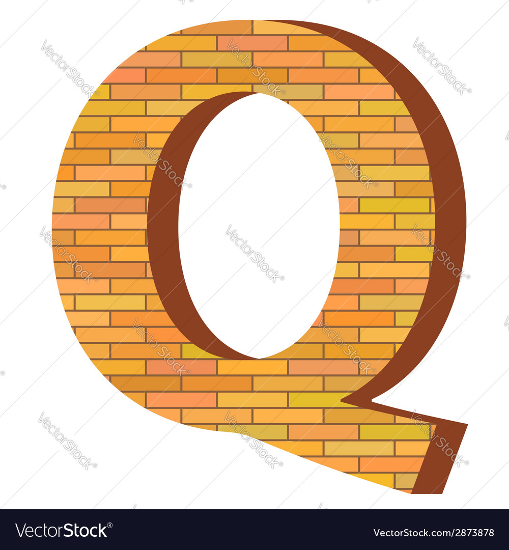 Brick letter q vector | Price: 1 Credit (USD $1)