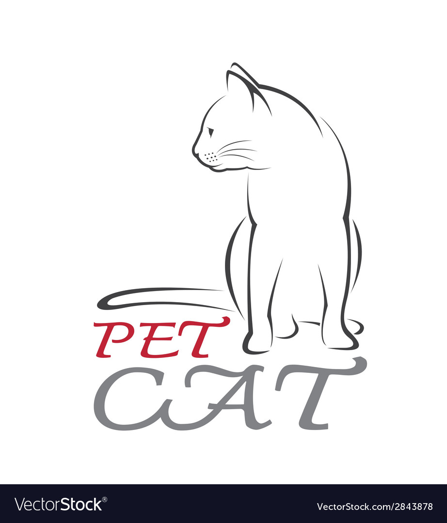Cat pet vector | Price: 1 Credit (USD $1)