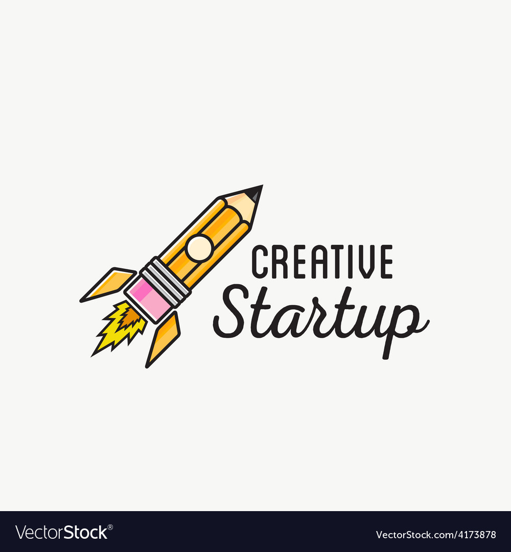 Creative startup rocket abstract logo vector | Price: 1 Credit (USD $1)
