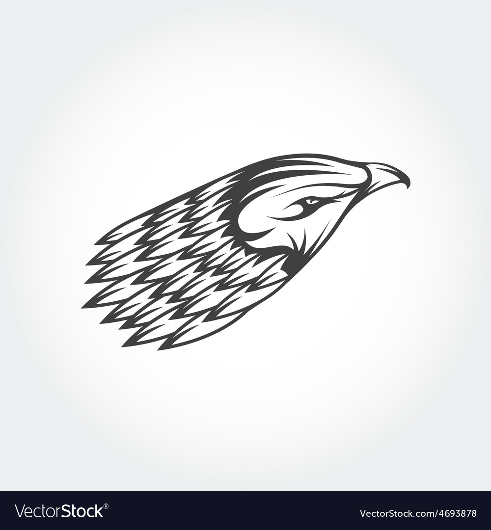 Eagle head design template vector | Price: 1 Credit (USD $1)