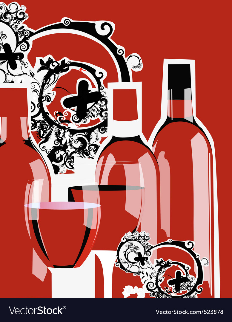 Funky wine bottles vector | Price: 1 Credit (USD $1)