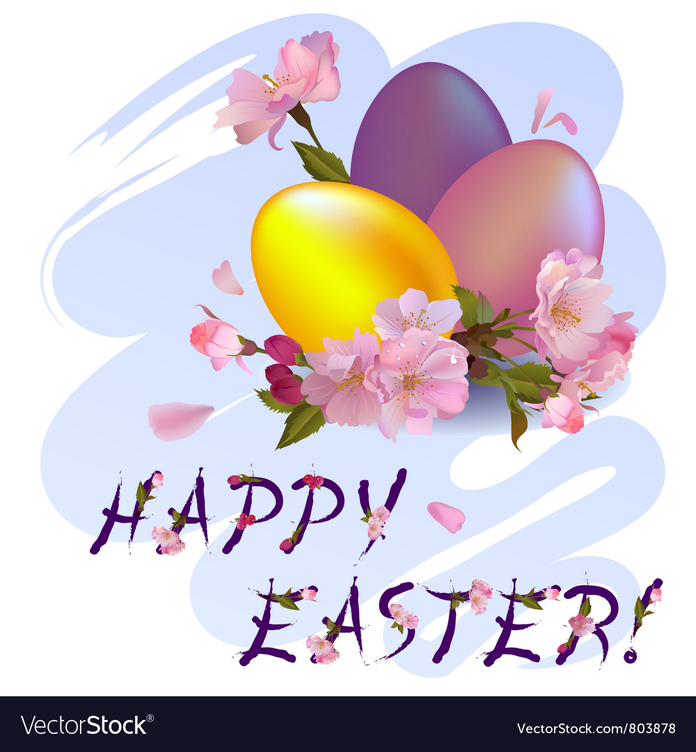 Happy easter - vector | Price: 1 Credit (USD $1)