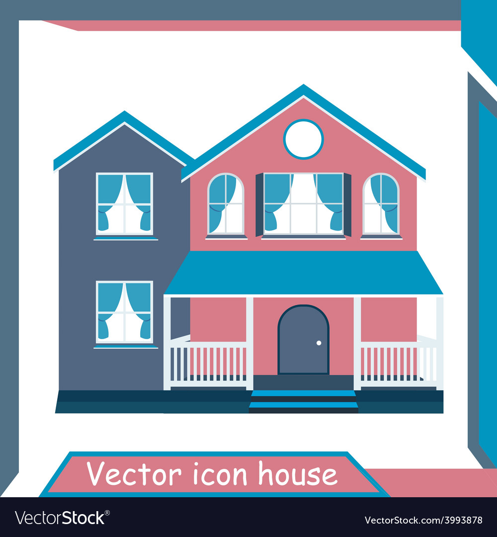 Icon minimalistic modern home vector | Price: 1 Credit (USD $1)