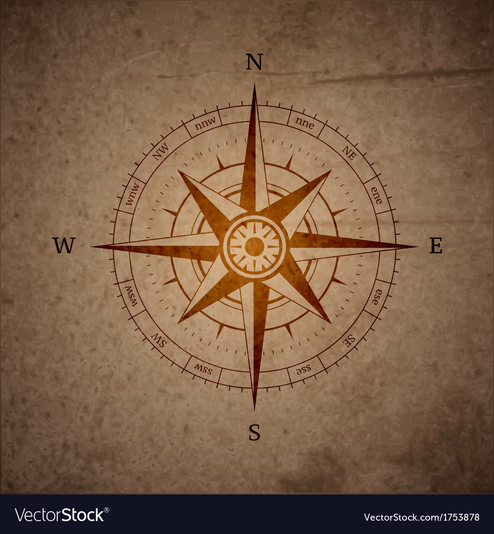 Retro navigation compass vector | Price: 1 Credit (USD $1)