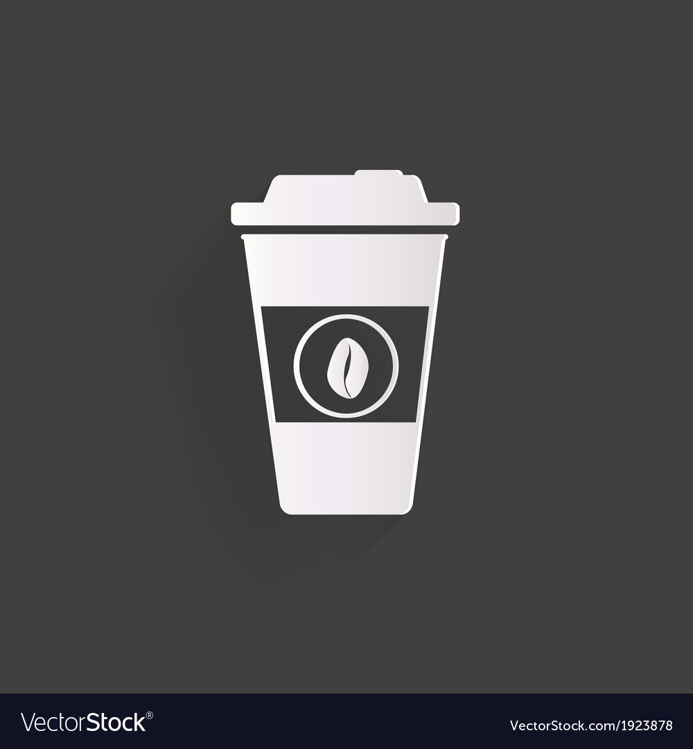Takeaway paper coffee cup ico vector | Price: 1 Credit (USD $1)