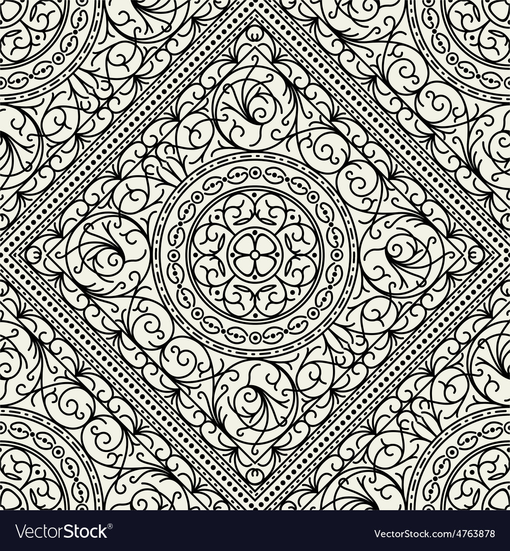 Wallpaper in the style of baroque seamless vector | Price: 1 Credit (USD $1)