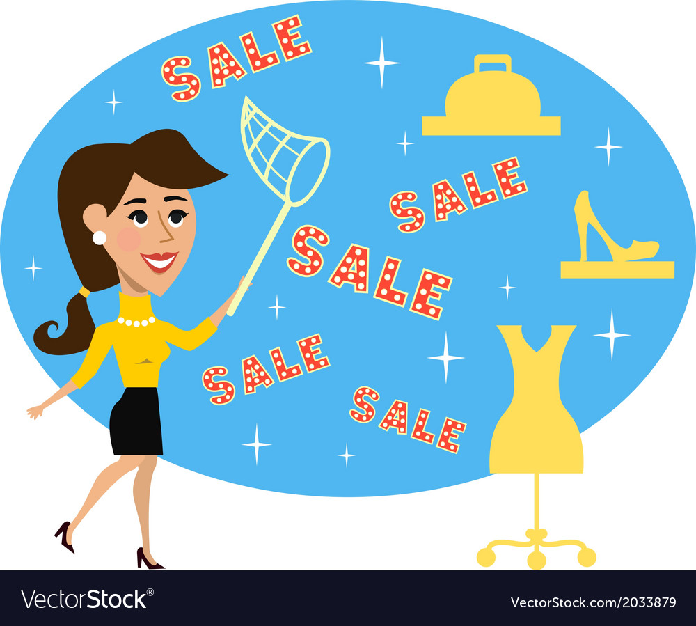 Abstract adult woman special sale offer vector | Price: 1 Credit (USD $1)