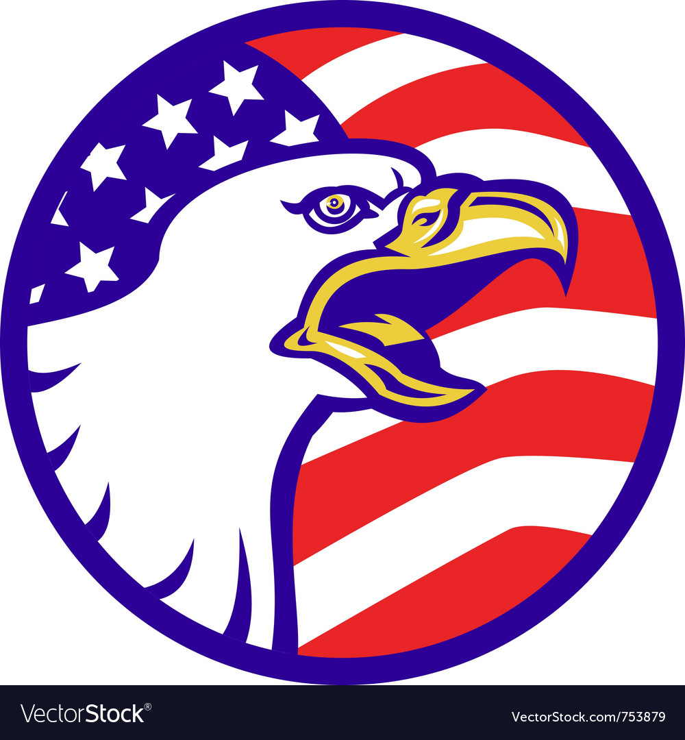 American bald eagle screaming vector | Price: 1 Credit (USD $1)