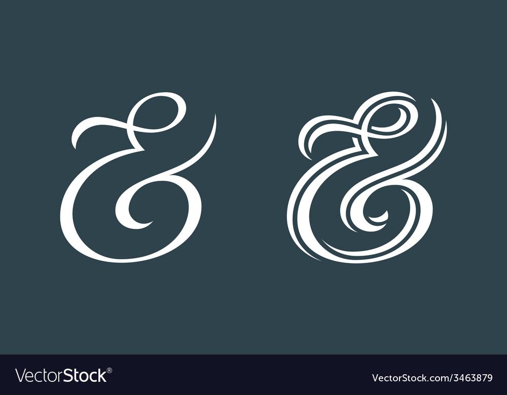 Ampersands vector | Price: 1 Credit (USD $1)