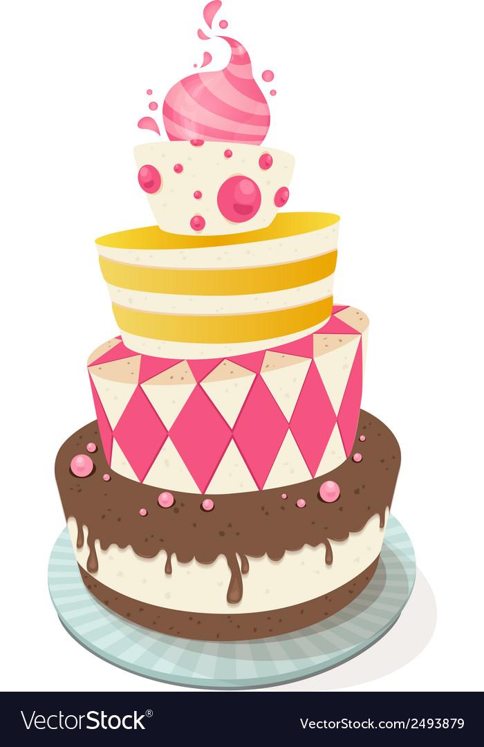 Birthday cake vector | Price: 1 Credit (USD $1)