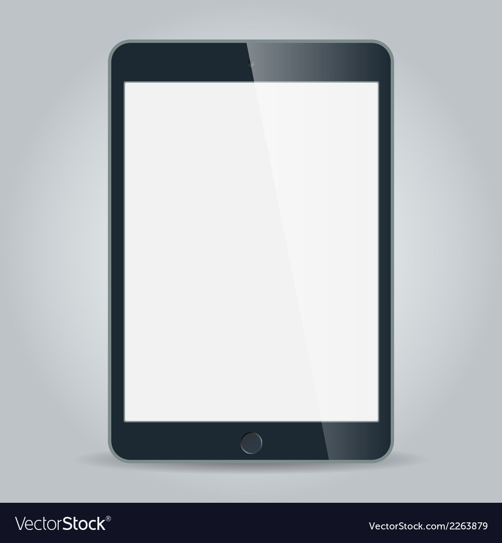 Black business tablet in ipad mini or air style vector
