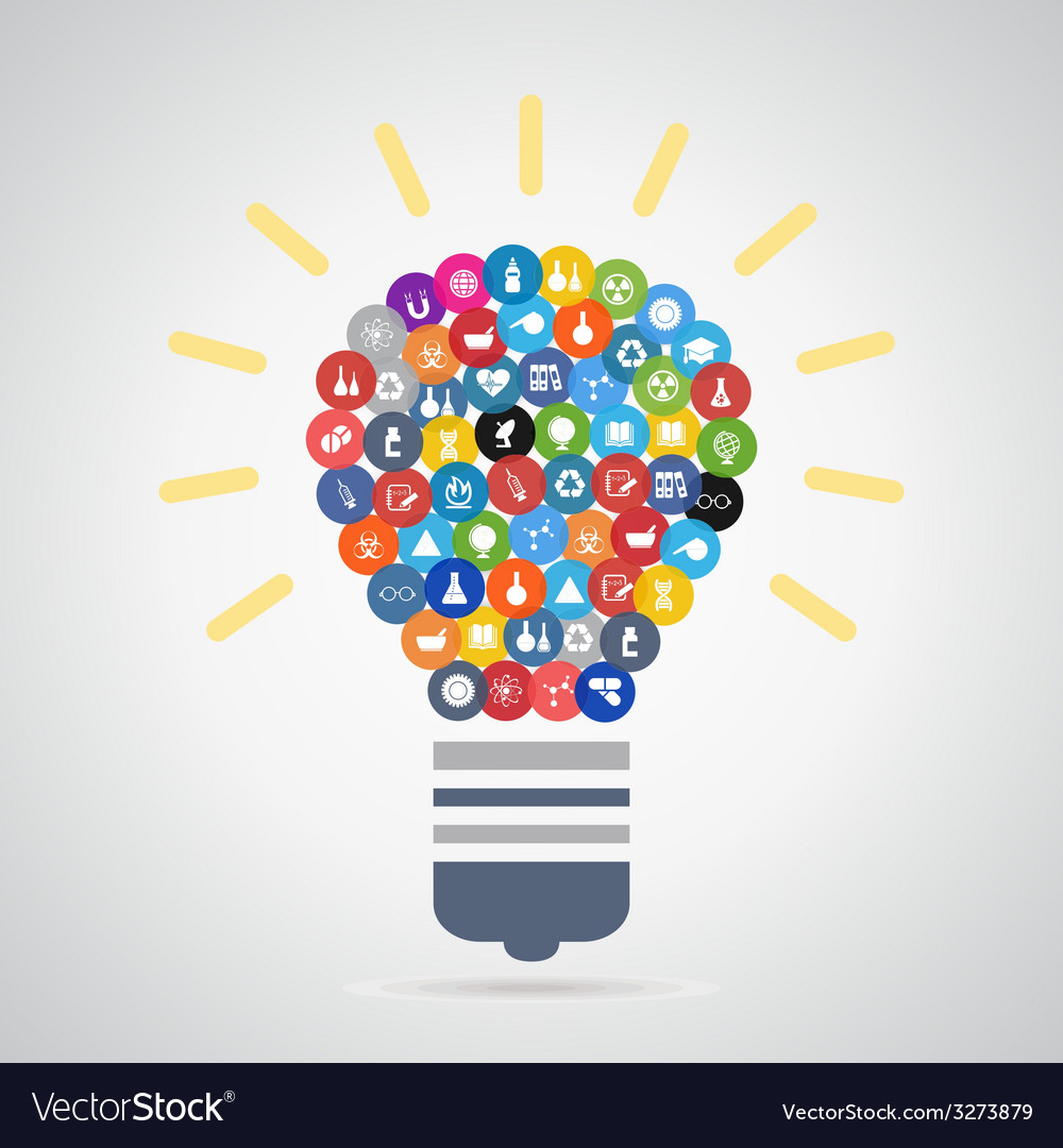 Bulb a science3 vector | Price: 1 Credit (USD $1)