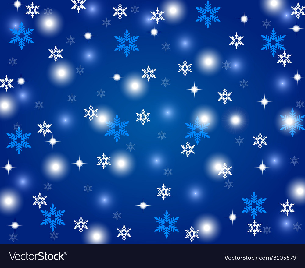 Christmas shiny blue background vector | Price: 1 Credit (USD $1)