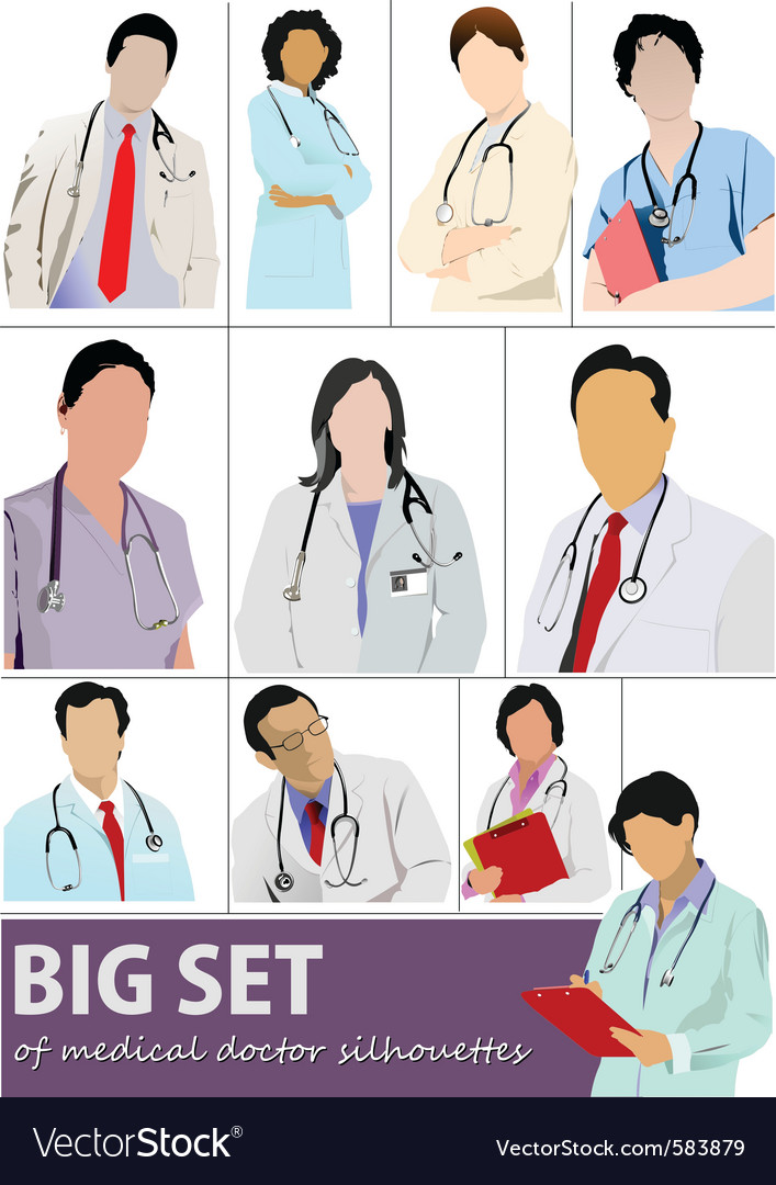 Doctor set vector | Price: 1 Credit (USD $1)