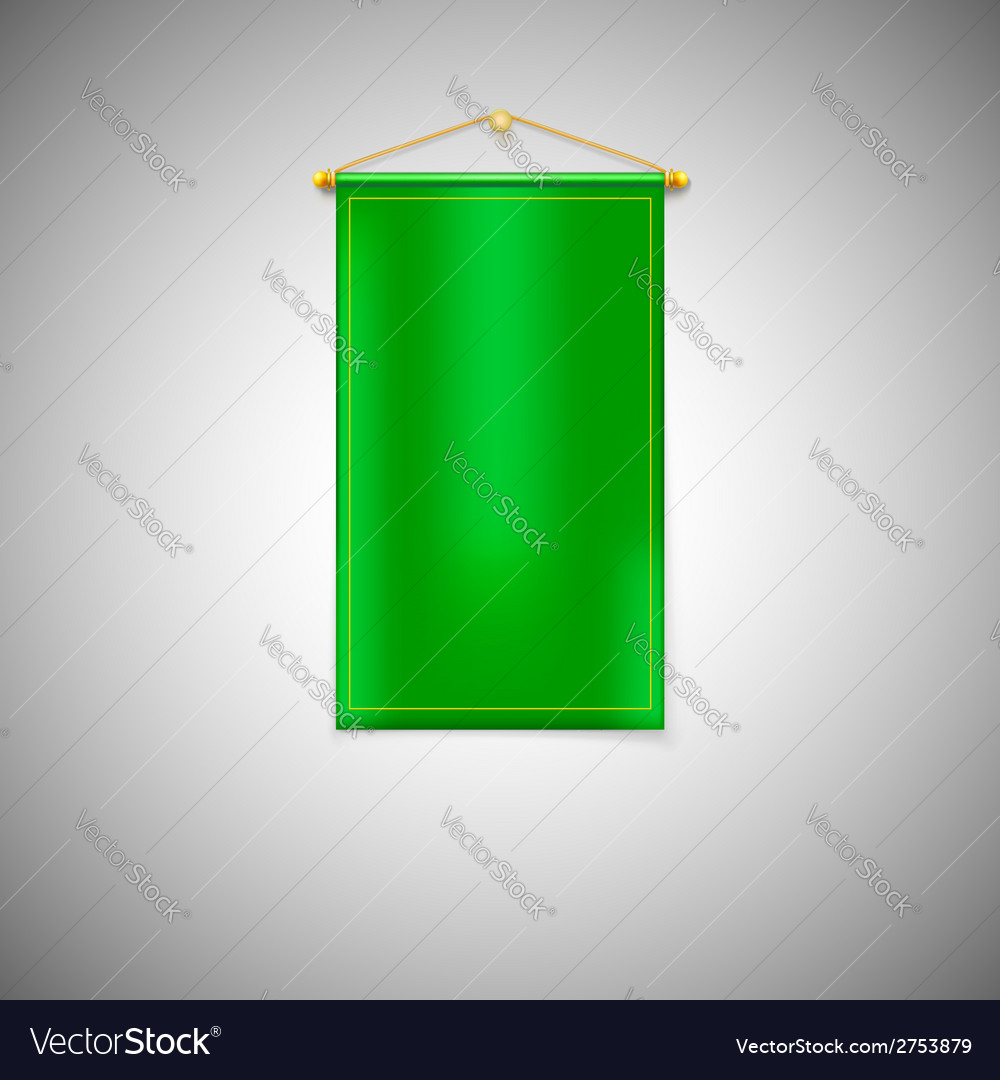 Green pennant on white background vector | Price: 1 Credit (USD $1)