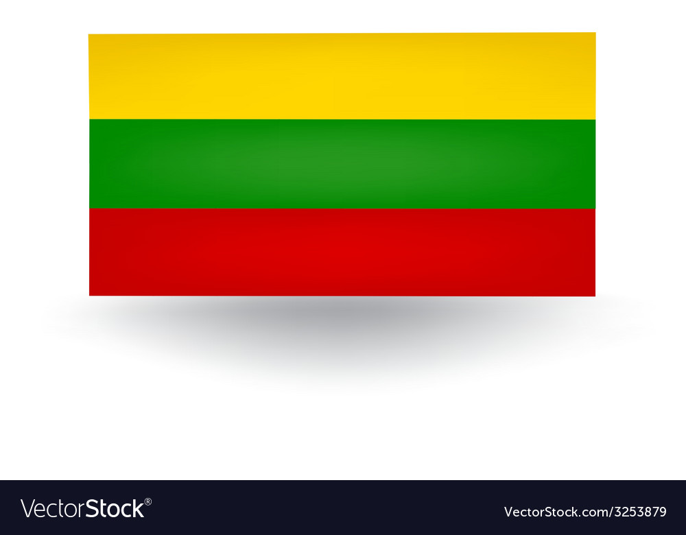Lithuanian flag vector | Price: 1 Credit (USD $1)