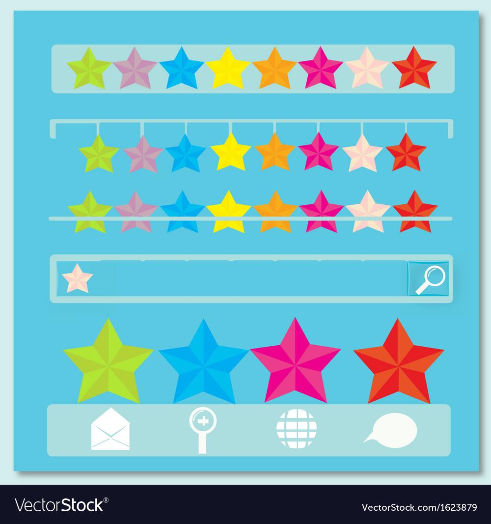 Star navigation bars vector | Price: 1 Credit (USD $1)