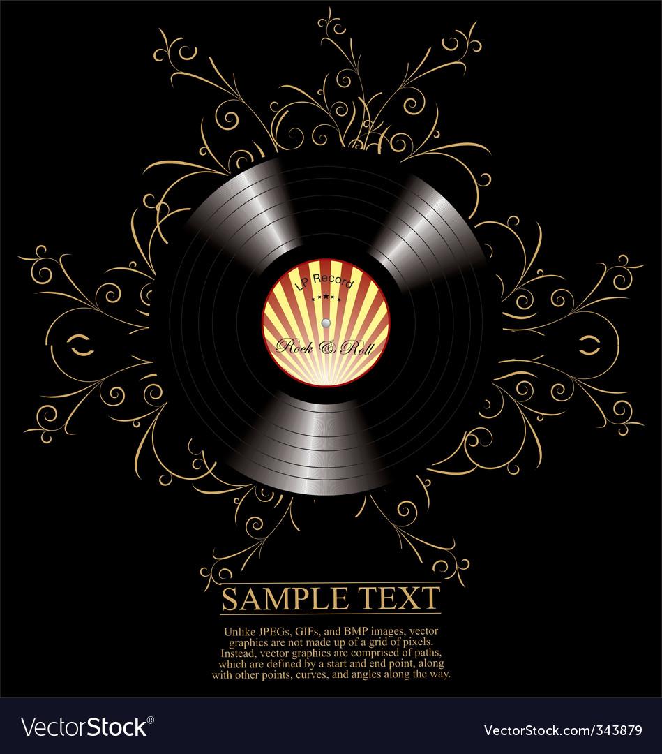Vinyl background vector | Price: 1 Credit (USD $1)