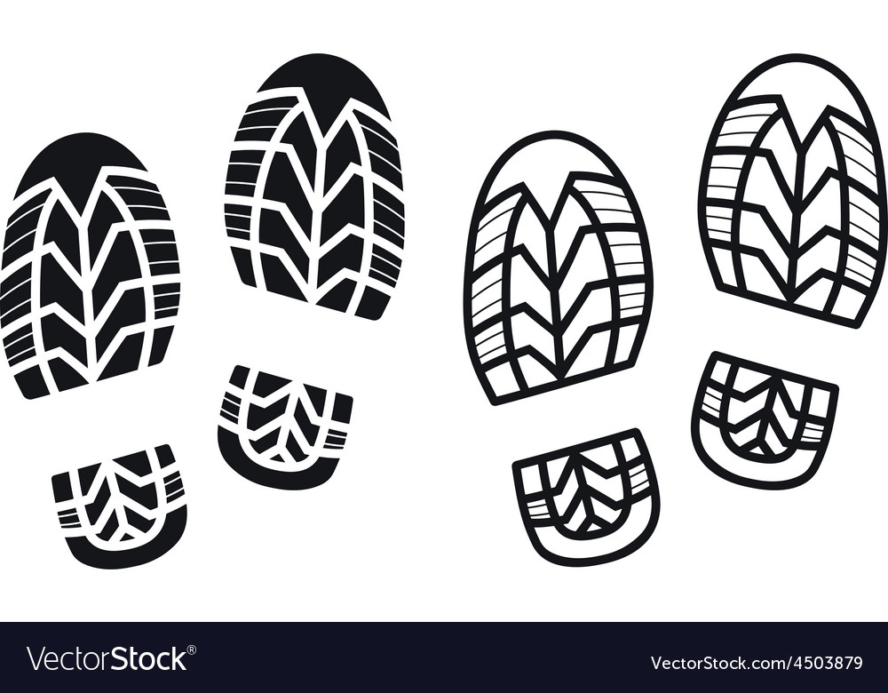 Work boots print vector | Price: 1 Credit (USD $1)