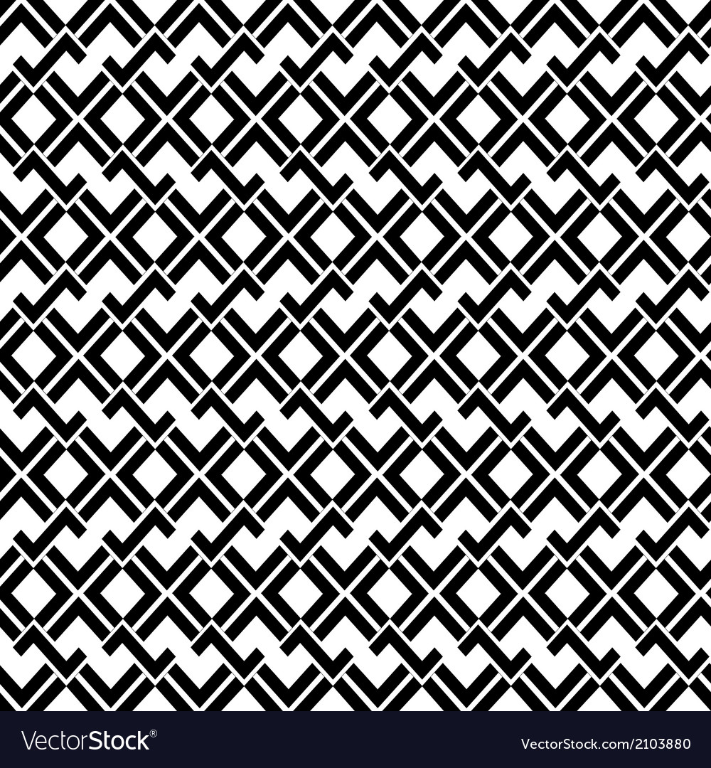 Abstract geometric seamless pattern in black and vector | Price: 1 Credit (USD $1)