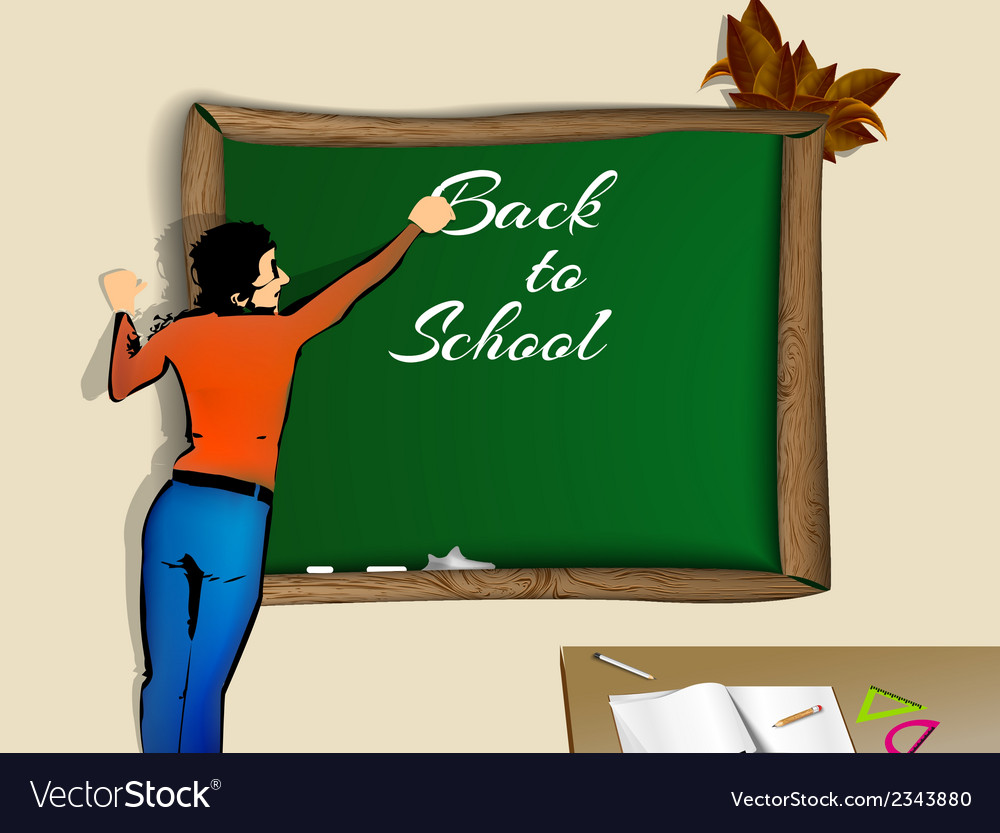 Back to school school teacher vector | Price: 1 Credit (USD $1)