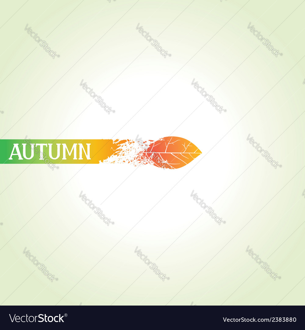 Creative autumn design vector | Price: 1 Credit (USD $1)