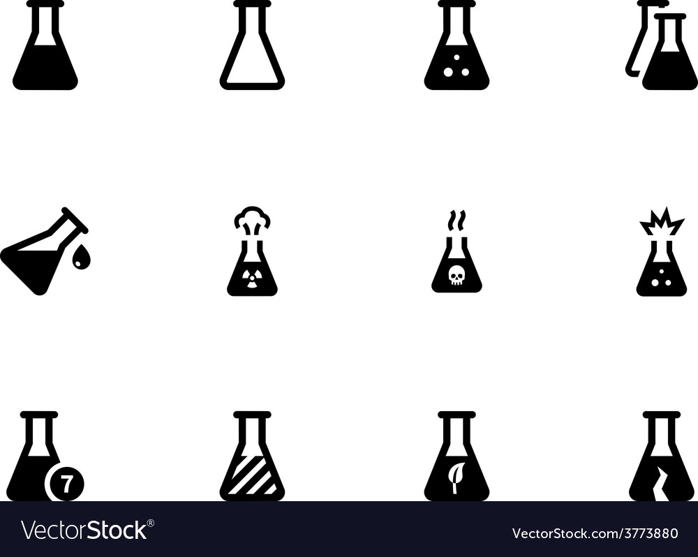 Laboratory flask icons on white background vector | Price: 1 Credit (USD $1)